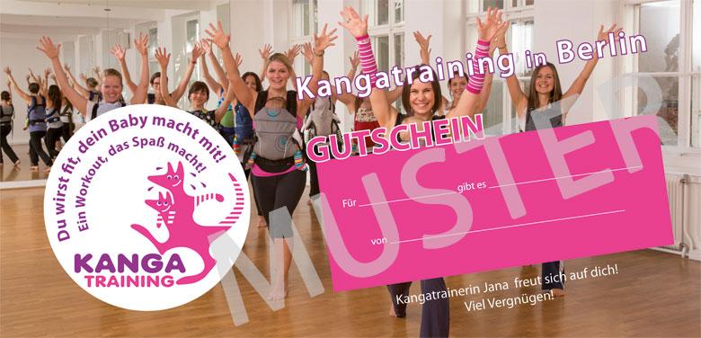 Geschenkgutschein für Kangatraining in Berlin